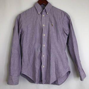 Ralph Lauren Button Down Purple Long Sleeve XS